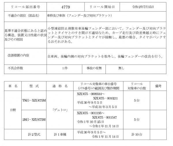 MS-20METリコール届出(R4779)